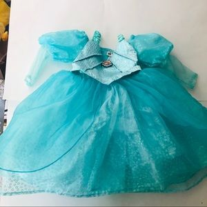 Infant little mermaid princess dress ( xxs / 2 -3